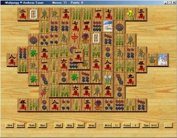 free mahjongg solitaire board game