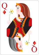 Queen of diamonds from Charles
